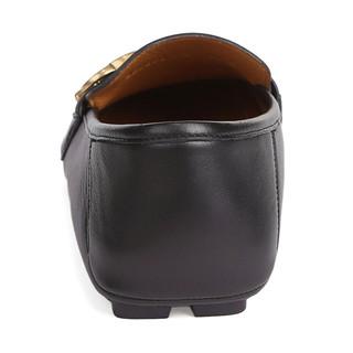 GUCCI 古驰 男士时尚红绿织带细节双G标志真皮休闲皮鞋 450891-DTM1-1060 7码