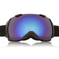 VOLOCOVER 专业户外双层防雾滑雪眼镜 防风 防紫外线 登山镜雪地护目镜 可套近视镜 黑色框/蓝彩片 *2件