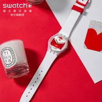 Swatch斯沃琪瑞士腕表2020新品情人节特别款爱心时尚情侣表GZ707S