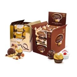 费列罗(Ferrero Rocher)榛品威化糖果巧克力 婚庆喜糖零食 情人节表白送礼 48粒礼盒装518.4g