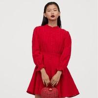 H&M 0815582 女士泡泡袖连衣裙