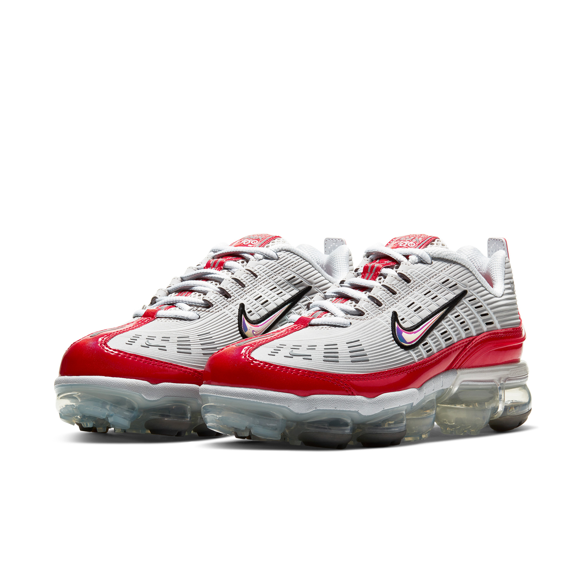 NIKE 耐克 Air VaporMax 360 女士休闲运动鞋 CK2719-001 白银红 35.5