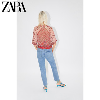 ZARA 07778405600 女士印花短款衬衫