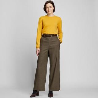 UNIQLO 优衣库 424008 女士宽腿直筒裤