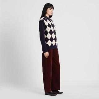 UNIQLO 优衣库 422606 菱形纹圆领开衫
