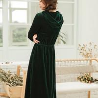 INMAN 茵曼 YS4101466b 女士灯芯绒连衣裙