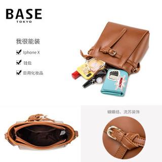 BASE 贝思 拉链女士斜挎包 BB419B0054 棕色 中号