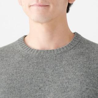 MUJI 无印良品 M9AA001 男式美利奴羊毛圆领毛衣
