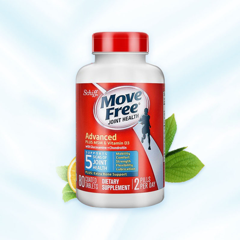 Movefree 氨糖软骨素 蓝瓶 80粒