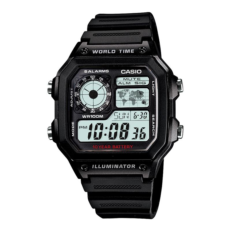 CASIO 卡西欧 AE-1200WHB-1BVDF 多动能男士手表