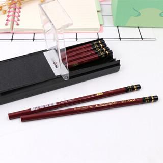 日本三菱(Uni)学生考试2B铅笔 素描绘画铅笔 硬度测试铅笔HI-UNI 12支装原装进口
