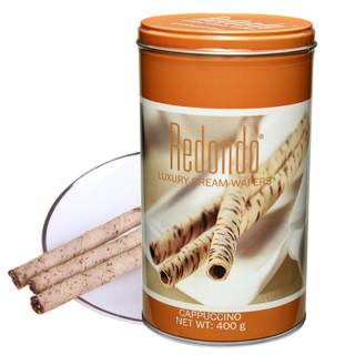 印度尼西亚进口 Redondo 瑞丹多 威化 卷心酥 意大利咖啡味 400g