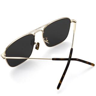 圣罗兰(SAINT LAURENT)太阳镜男女 墨镜 灰色镜片金色镜框SL 309 009 58mm