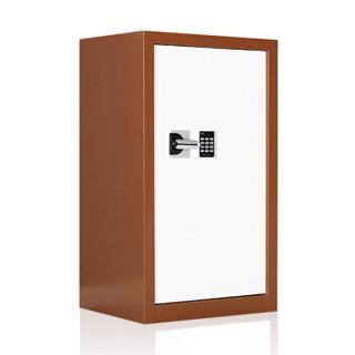 欧宝美保密柜保险柜文件柜资料保密矮柜咖白色