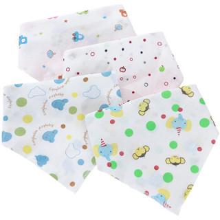 象宝宝(elepbaby)婴儿口水巾棉质三角巾围嘴1条装