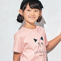 千趣会 夏秋女童纯棉印花圆领短袖T恤 110-150厘米 *3件