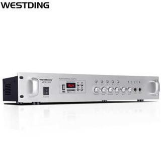 威斯汀(WESTDING)定压定阻功放机吸顶喇叭公共广播蓝牙功放背景音乐系统5分区工程功率放大器 VCM-180 150w