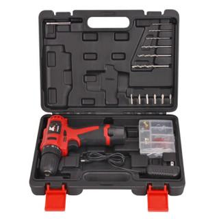 卡夫威尔 15件套12V多功能锂电钻套装 日常家用工具箱套装 家居备用手电钻工具组套 ( 一电一充) P3068A