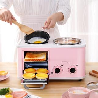 荣事达 Royalstar早餐机多功能三合一烤面包机多士炉三文治吐司机家用煮蛋器煎蛋电火锅  RS-KG12A