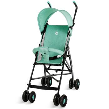 宝宝好 605D 可折叠轻便四轮推车 绿