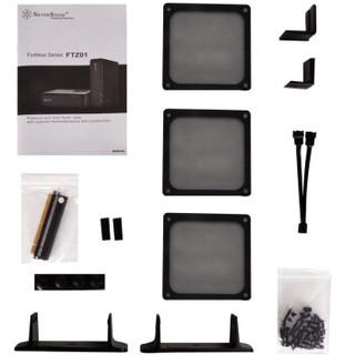 银欣(SilverStone)FTZ01B 小堡垒1 黑色版HTPC机箱(正压差/支持长显卡/支持水冷/立卧两用)