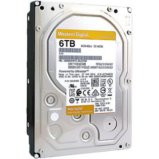 Western Digital 西部数据 金盘 企业级硬盘 6TB 7200rpm 256MB WD6003VRYZ