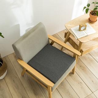 布拉塔 坐垫 乳胶垫子美臀办公室餐椅垫榻榻米防滑垫沙发座垫加厚学生屁垫冬季 深灰色 40*40cm