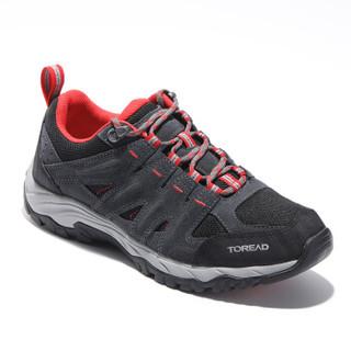 探路者(TOREAD)徒步鞋 19冬季户外男女款防滑徒步登山鞋 TFAH91325 深灰/熔岩红(男) 42