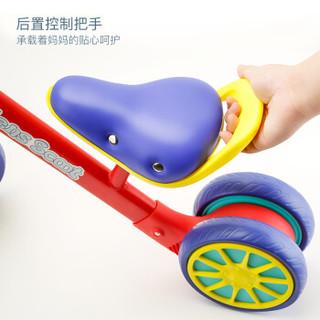 贝恩施儿童玩具男孩女孩滑滑车防侧翻三轮稳定结构儿童平衡车BP-202落英红