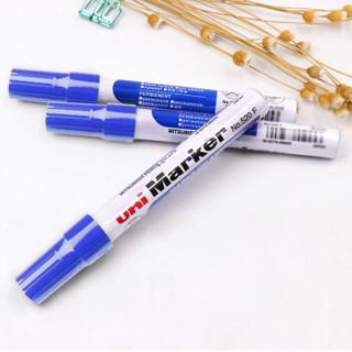 日本三菱(Uni)油性记号笔520F圆头婚礼签名笔 1.0-3.0mm蓝色 单支装原装进口