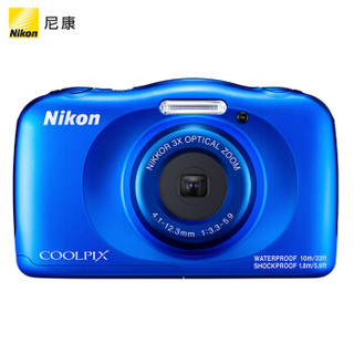 尼康(Nikon)COOLPIX W150 轻便型 数码相机 防水防震  w150 蓝色(约1,317万有效像素 全高清视频拍摄)