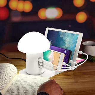 无线手机充电器 10W无线快充 苹果小米华为三星 充电拓展坞支架 小夜灯 手机收纳架