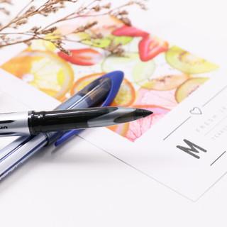日本三菱(Uni)黑科技AIR签字中性笔漫画笔草图笔绘图笔UBA-188L黑色0.7mm 12支装 原装进口