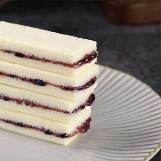香当当紫米面包口袋蒸蛋糕500g休闲零食营养早餐小吃点心饼干蛋糕