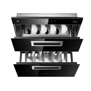 樱花(SAKURA)消毒柜嵌入式 臭氧+紫外线+高温 100L独立双模嵌入式碗柜 消毒红外线烘干 ZTD100-C01