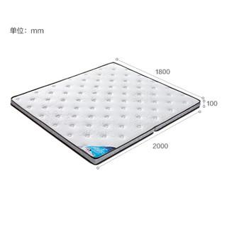 全友家居 床垫可折叠床垫软硬正反两用双功能床垫卧室椰棕床垫105115 床垫 1.8米