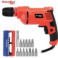 ValueMax 万克士 V122001 家用多功能手电钻  550W