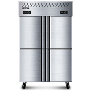 星星(XINGX)840升商用四门厨房冰箱 大容量冷藏冷冻冰柜 不锈钢双温饭店冷柜商用立式冰柜