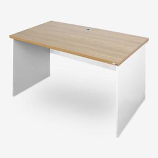 尼德(need)台式家用办公电脑桌子 AC8BW (120*60) 简约稳定专业学习书写桌子 E1环保无味 柚木面白腿