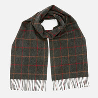 银联专享:Barbour Tattersall 格子羊毛围巾