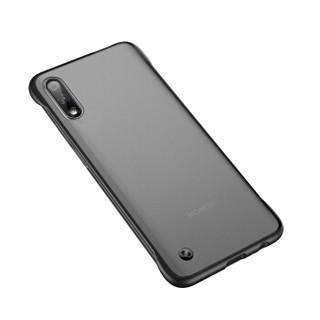 瓦力(VALEA)华为荣耀9x手机壳保护套 带挂绳防摔超薄透明磨砂硬壳硅胶软边 石墨黑