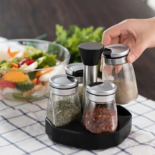 居元素 索伦斯玻璃调味瓶 五件套 家用佐料瓶 厨房调味罐 N7907A000
