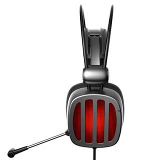 西伯利亚(XIBERIA)S21 游戏耳机头戴式电脑耳机带麦电竞耳麦7.1声道不求人吃鸡耳机 铁银灰 升级版2代