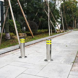 皇驰 不锈钢防撞柱固定路障路桩钢管警示柱桩交通隔离柱反光路桩隔离柱停车挡车柱立柱