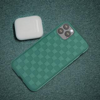 瓦力(VALEA)iPhone11 pro max手机壳苹果11pro max保护套 超薄方格编织散热全包防摔保护套 6.5英寸 墨绿