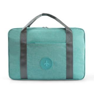 欣沁 防水旅行包 旅游衣物折叠收纳整理收纳包袋便携拉杆包 湖蓝色