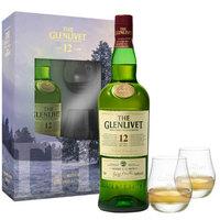 THE GLENLIVET 格兰威特 洋酒 12年 陈酿 单一麦芽威士忌礼盒装 700ml