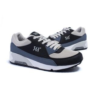 361度男鞋运动鞋时尚复古跑步文化鞋气垫缓震旅游休闲鞋子671542241 灰/黑 42