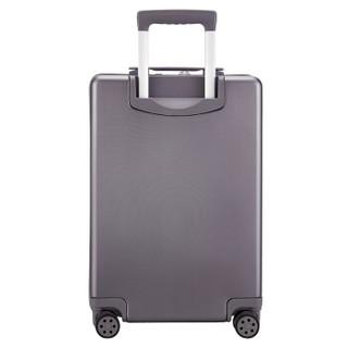 外交官(Diplomat)行李箱一键开启前开盖登机箱商旅出差拉杆箱万向轮旅行箱TSA密码锁TC-9152灰色20英寸