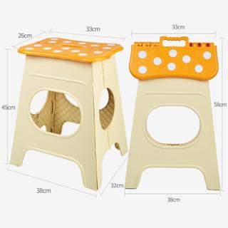 沃特曼WhotMan 折叠椅加高加厚塑料餐桌凳便携式防滑折叠凳WD2949